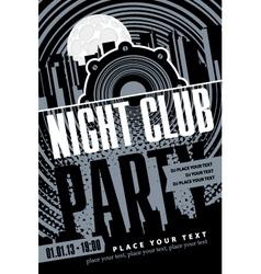 Night club vector image vector image