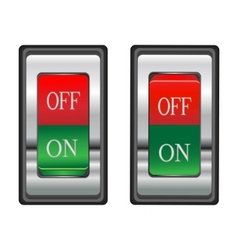 onoff red switch button vector image
