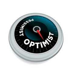 Optimist and pessimist meter concept vector