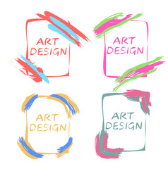 Pop art design frames for an gallery art studio vector