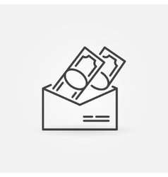 Salary in envelope icon vector
