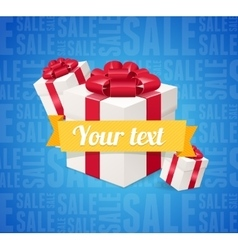 Sale Background Present Boxes vector image vector image