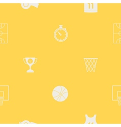 Seamless pattern with basketball icons vector image vector image