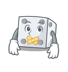 Silent dice character cartoon style vector