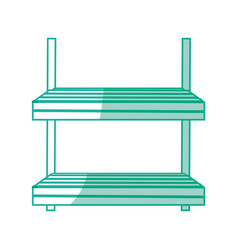 Spa wooden shelf vector