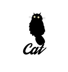 Symbol of a black cat vector image vector image