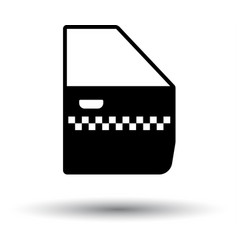 taxi side door icon vector image vector image