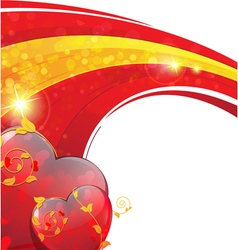 Valentines Day sparkling background vector image vector image