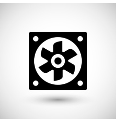 Ventilation fan icon vector