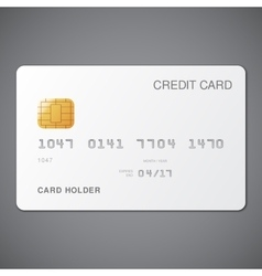 White Credit Card vector image