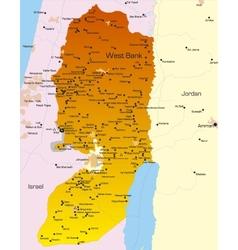 West Bank vector image