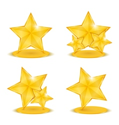 Golden stars vector