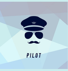 Pilot icon in flat style vector