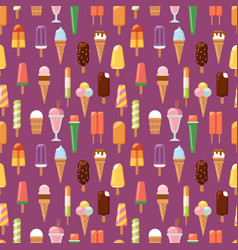 Fruit ice cream seamless pattern background vector