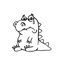 Cute sad dragon cute sad dragon vector