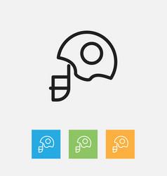 of teach symbol on helmet vector image