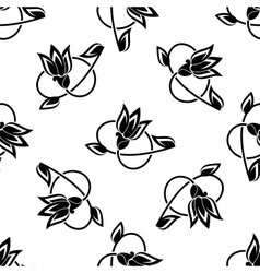 Swirling floral seamless pattern background vector