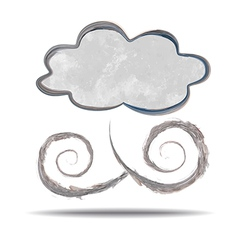 Climate cloud and wind vector