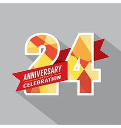 24th Years Anniversary Celebration Design vector image vector image