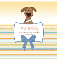 Birthday card with dog vector