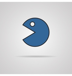 Abstract pac-man icon vector