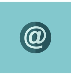 Email Flat Icon vector image