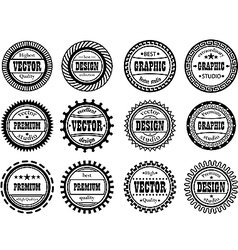 Set award stamp for studios vector image
