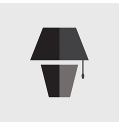 Table lamp icon vector
