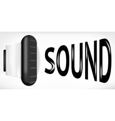 Sound sign vector