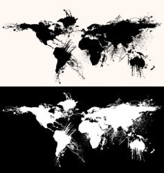 World map grunge vector