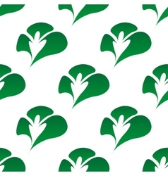Green clover leaves seamless pattern vector