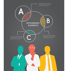 Color silhouettes of businessman with pie concept vector