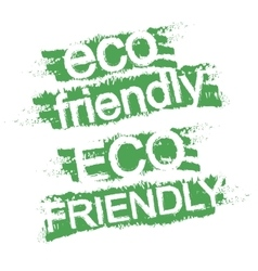 Eco friendly graffitti sign vector