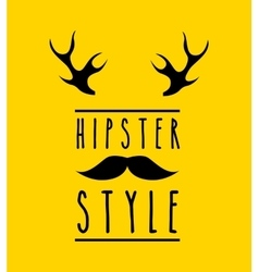 Hipster style design vector