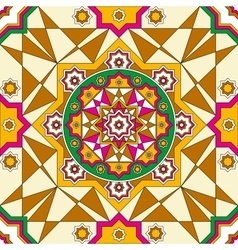 Oriental ornate seamless pattern ethnic bright vector