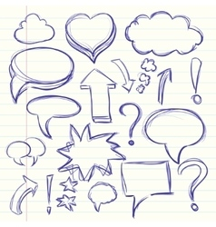 The cloud of thoughts conversation in the comics vector