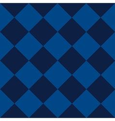 Blue sea chess board diamond background vector