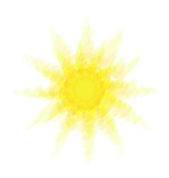 Abstract Hot Sun vector image