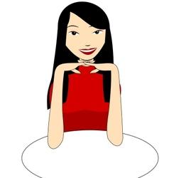 Asian girl vector image vector image