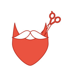 barbershop scissor with mustache style hipster vector image vector image