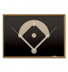 baseball blackboard vector image