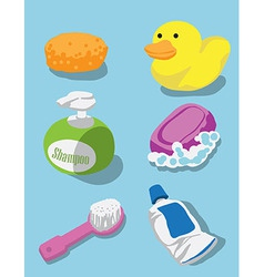 Bath kit vector image