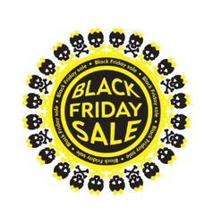 Black friday sale scull circle icon white vector