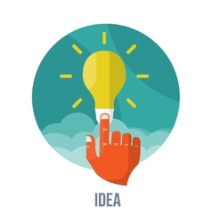 bulb icon with innovation idea vector image