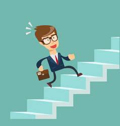 Businessman going up vector