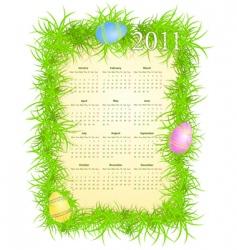 calendar 2011 vector image vector image