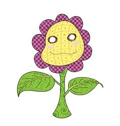cheerful sunflower happy vector image