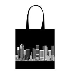 Cityscape shopping bag design urban art vector image