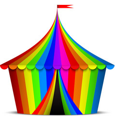 Colorful circus tent vector