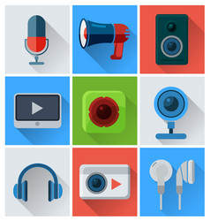 computer accessories icons vector image vector image